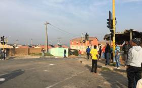 Protesters gather in Pennyville, Soweto on 12 April 2019. Picture: Kgomotso Modise/EWN