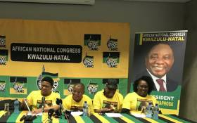ANC head of elections Fikile Mbalula (left) seen at the party's briefing on 3 January 2019, ahead of the party's annual January 8 celebrations. Picture: Ziyanda Ngcobo/EWN.