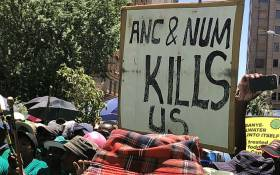 Amcu led a march through Johannesburg on 22 January 2019 as Sibanye-Stillwater workers demanded salary increases. Picture: Ayanda Nyathi/EWN