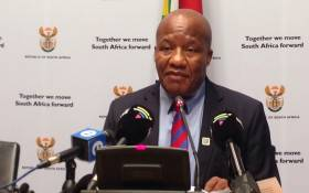 Minister in the Presidency Jackson Mthembu at a post-Cabinet briefing on 11 July 2019. Picture: Gaye Davis/EWN