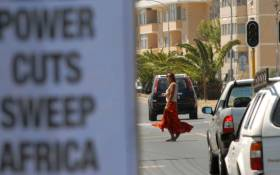 Traffic lights  not working in Cape Town on 21 January 2008, as a result of load shedding by Eskom. Picture: AFP.