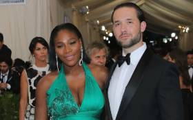 """FILE: Alexis Ohanian (right) and Serena Williams (left) attend the """"Rei Kawakubo/Comme des Garcons: Art Of The In-Between"""" Costume Institute Gala at Metropolitan Museum of Art on 1 May 2017 in New York. Picture: AFP"""