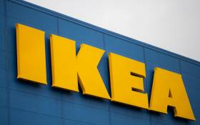 This file photograph taken on 13 January 2021, shows the logo of Scandanavian furniture chain store Ikea at Saint-Herblain, on the outskirts of Nantes, western France. Picture: Loic Venance/AFP