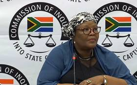 FILE: A screengrab of Vytjie Mentor giving testimony at the Zondo Commission on 12 February 2019.