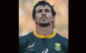 Springbok's lock Eben Etzebeth stands before the start of the Rugby Championship match between South Africa and New Zealand at the Loftus Versfeld stadium in Pretoria, South Africa, on October 6, 2018. Picture:  AFP.