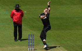 New Zealand's Matt Henry opened up the batting against South Africa on 19 June 2019. Picture: Twitter/@cricketworldcup