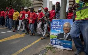 Cosatu members marched on 13 February 2019 in protest against unemployment, the current wave of retrenchments and income inequality. Picture: Thomas Holder/EWN