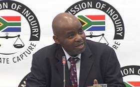 A YouTube screen grab of Elijah Mazibuko testifying at the state capture commission of inquiry on 10 June 2018. Picture: SABCDigitalNews/Youtube