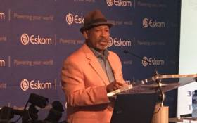 FILE: Eskom board chairperson Jabu Mabuza announces the utility's financial results on 30 January 2018. Picture: Gia Nicolaides/EWN