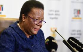 International Relations and Cooperation Minister Naledi Pandor addressed the media in Pretoria on 14 December 2020. Picture: @SAgovnews/Twitter