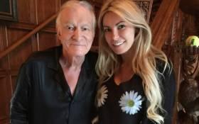 Late 'Playboy' magazine mogul Hugh Hefner and Crystal. Picture: Instagram/@hughhefner.