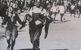 The iconic photo of Hector Pieterson being carried on 16 June 1976. Picture: Sam Nzima.