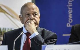 Public Enterprises Minister Pravin Gordhan at an Eskom press briefing on 3 April 2019. Picture: Abigail Javier/EWN.