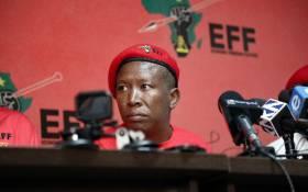 EFF leader Julius Malema addresses the media in Johannesburg on 10 April 2019. Picture: Kayleen Morgan/EWN.