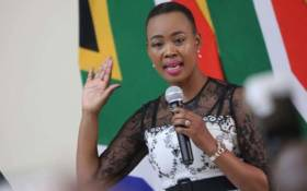 Minister of Communications Stella Ndabeni-Abrahams takes her oath of office. Picture: Kayleen Morgan/EWN