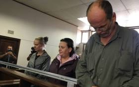 FILE: (From left to right) Tharina Human, Laetitia Nel and Pieter van Zyl appear in the Vanderbijlpark Magistrates Court on 19 September 2019 for the kidnapping of of a six-year-old girl outside of her school. Picture: Kgomotso Modise/EWN