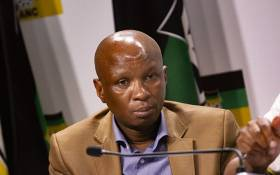ANC's Zizi Kodwa at a press briefing held by the ANC on 22 January. Picture: Kayleen Morgan/EWN.