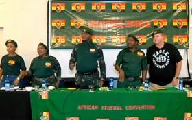 The leadership of a new political party, the African Federal Convention, which was formed by former Economic Freedom Fighters (EFF) members. Picture: YouTube screengrab.
