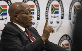 FILE: Former President Jacob Zuma at the state capture commission on 19 July 2019. Picture: Abigail Javier/Eyewitness News.