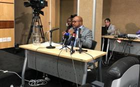 Gene Ravele gives evidence at the Nugent Commission of Inquiry into governance at the South African Revenue Service on 28 June 2018. Picture: Qaanitah Hunter/EWN