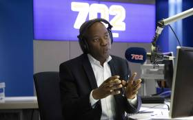FILE: Radio 702's Xolani Gwala talks to President Cyril Ramaphosa. Picture: Abigail Javier/EWN