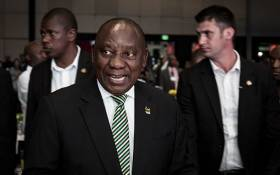 President Cyril Ramaphosa at the ANC 107 gala dinner at the Durban ICC on 11 January 2019. Picture: Sethembiso Zulu/EWN