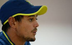 FILE: South African ODI captain Quinton de Kock addresses a press conference ahead of tomorrow's first one-day international (ODI) cricket match of a three-match series between India and South Africa, at the Himachal Pradesh Cricket Association Stadium in Dharamsala on 11 March 2020. Picture: AFP