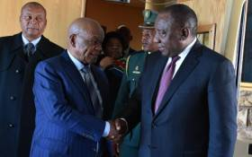 President Cyril Ramaphosa met with Lesotho's Prime Minister Tom Thabane on 4 July 2019. Picture: @PresidencyZA/Twitter