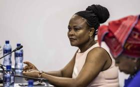 Public Protector Busisiwe Mkhwebane at the launch of the Cheryl Zondi foundation. Picture: Abigail Javier/EWN