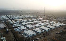 This aerial photo taken on 16 January 2021 shows the under-construction centralised quarantine facilities, where people at risk of contracting the COVID-19 coronavirus are to be taken into quarantine in Shijiazhuang, in northern Hebei province after the province declared an 'emergency state'. Picture: AFP
