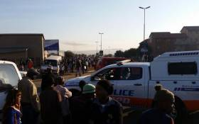 The JMPD said two streets have been barricaded in Cosmo City by taxi operators who have been protesting since early morning. Picture: @Funzi_MaRzr via Twitter