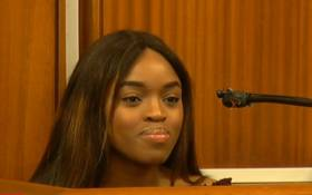 A video screengrab of Cheryl Zondi testifying at the Timothy Omotoso trial. Picture: YouTube