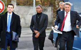 FILE: South African 800 metres Olympic champion Caster Semenya (C) and her lawyer Gregory Nott (R) arrive for a landmark hearing at the Court of Arbitration (CAS) in Lausanne on 18 February 2019. Picture: AFP.