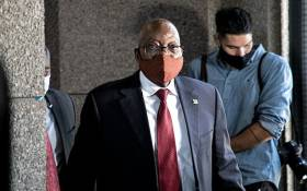 FILE: Former President Jacob Zuma arrives at the state capture commission of inquiry in Johannesburg on 16 November 2020. Picture: Xanderleigh Dookey/Eyewitness News.