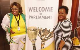 ANC chief whip Pemmy Majodina (left) and deputy chief whip Doris Dlakude (right). Picture: @ANCParliament/Twitter