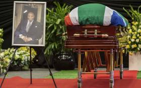 The funeral service of Dr Richard Maponya at the University of Johannesburg Soweto Campus on 14 January 2020. Picture: Abigail Javier/EWN