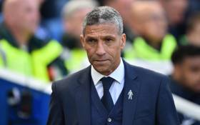 Chris Hughton arrives for the English Premier League football match between Brighton and Hove Albion and Manchester City at the American Express Community Stadium in Brighton, southern England on 12 May 2019. Picture: AFP