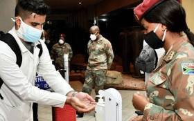 Members of the SANDF have been sent to Gauteng on 21 June 2021 to boost COVID-19 medical efforts amid a third wave. Picture: @GautengProvince/Twitter.