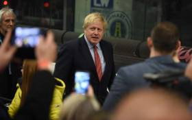 Britain's Prime Minister and Conservative leader Boris Johnson leaves after retaining his seat to be MP for Uxbridge and Ruislip South at the count centre in Uxbridge, west London, on 13 December 2019 after votes were counted as part of the UK general election. Picture: AFP.