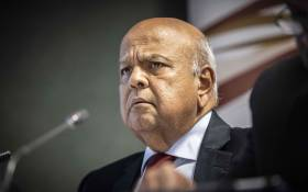 Public Enterprises Minister Pravin Gordhan at a press briefing at the Lethabo power station on 3 April 2019. Picture: Abigail Javier/EWN