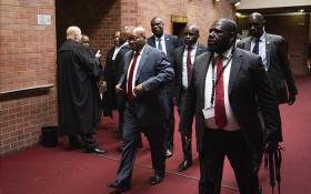 Former President Jacob Zuma court arriving at the Pietermaritzburg High Court. Picture: Sethembiso Zulu/EWN