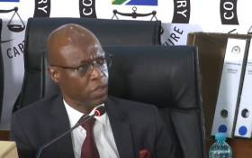 FILE: A screengrab of former Eskom head of generation Matshela Koko appearing at the state capture inquiry on 11 December 2020. Picture: SABC/YouTube