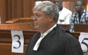 A video screengrab of AfriForum making arguments in the Western Cape High Court on 29 November 2018.