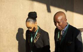 EFF leader Julius Malema and his wife Mantoa arrive at President Cyril Ramaphosa's inauguration. Picture: Kayleen Morgan/EWN