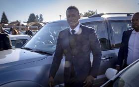 Duduzane Zuma leaves the Randburg Magistrates Court where he appeared on two charges of culpable homicide. Picture: Thomas Holder/EWN