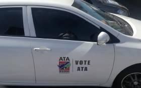 Alliance for Transformation for All (ATA) logo on a car. Picture: Alliance for Transformation for all ATA Facebook page.