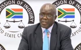 A screengrab of former head of department for the Free State Department of Agriculture Peter Thabethe at the state capture inquiry on 16 August 2019.