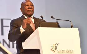 President Cyril Ramaphosa addresses the second South Africa Investment Conference in Sandton, Johannesburg on 6 November 2019. Picture: @PresidencyZA/Twitter