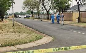 Police on the scene of a foiled cash-transit-heist in Dawn Park, Boksburg, on 23 September 2020. Picture: Twitter/@SAPoliceService