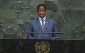 Zambian President Edgar Lungu. Picture: United Nations Photo.
